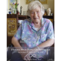 The Psyche Knows Best: An Interview of Florence Swan Porter Grossenbacher. Produced by Audrey Punnett.