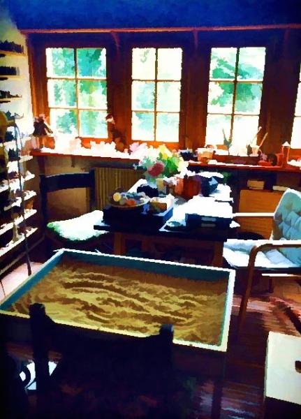 Kalff's sandplay room